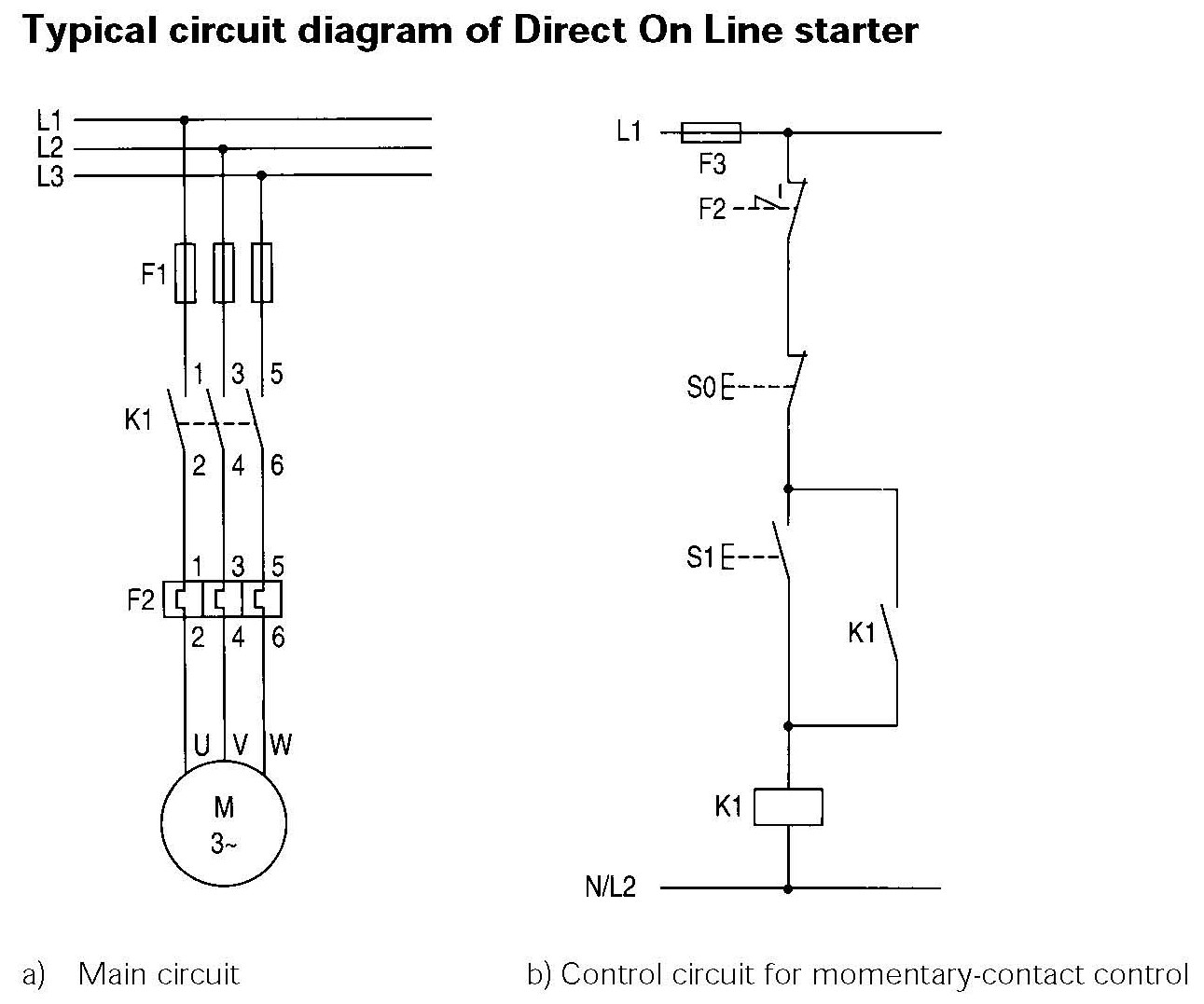 Direct Online Starter Wiring Diagram Pioneer Stereo Easy Tech On Line