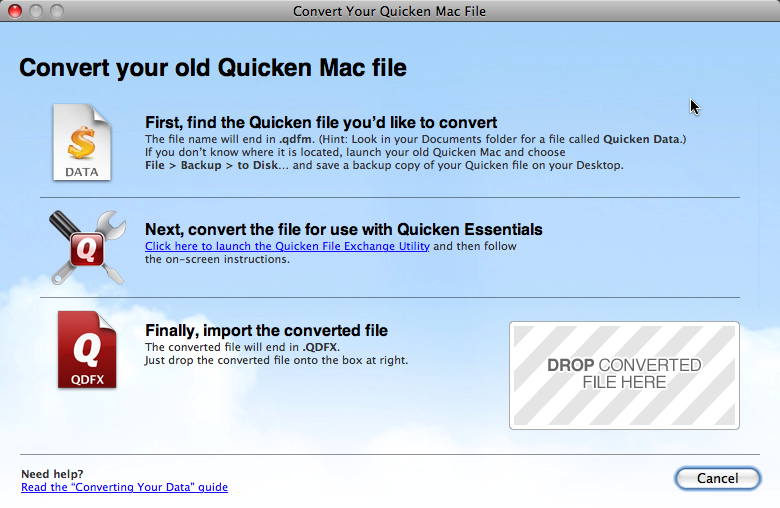 Mac Quicken Sucks: Converting old Quicken Files for use with