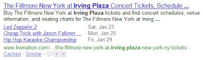 eventos google snnipets