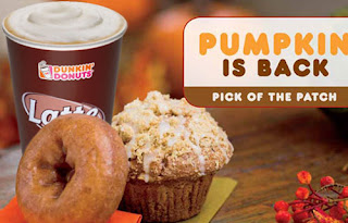 Dunkin Donuts 99 Cents Small Latte And Pumpkin
