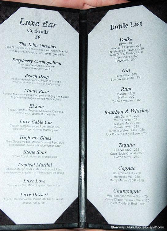 Luxe Bar Hard Rock Hotel Las Vegas And Food
