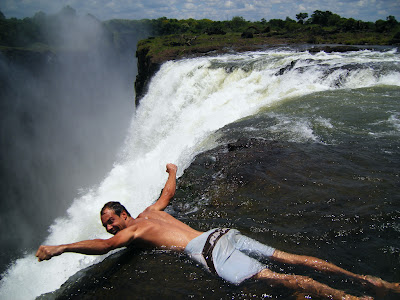 Swimming At The Edge Of Victoria Falls
