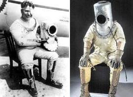 65106d91007 El 5 de septiembre de 1934, el aviador y aventurero Wiley Post batió el  récord mundial de altitud al alcanzar los 40.000 pies de altura provisto de  un traje ...