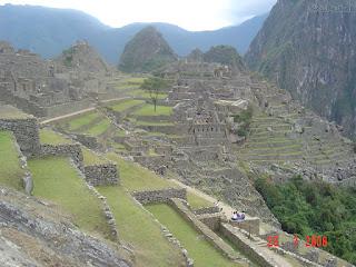 foto das construções de macchu picchu