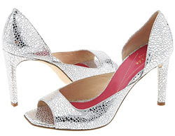 Silver Sequin Shoes Wide Width