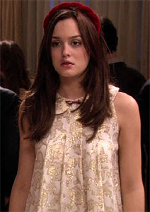 The Glam Guide: Blair's Gold Christmas Dress in Gossip Girl ...