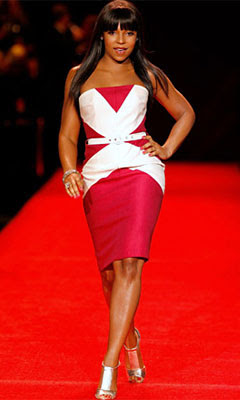ashanti red dress