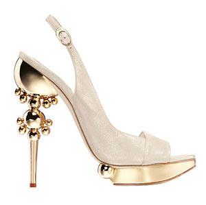 Silver Wedding Shoes Medium Heel