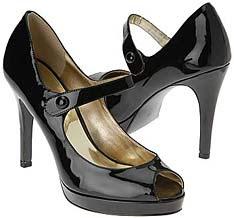 Guess Black Patent Court Shoe