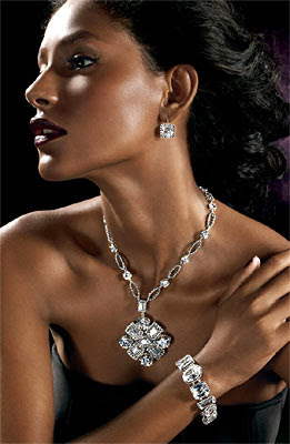 Cubic Zirconia Necklace With Ring Pendant