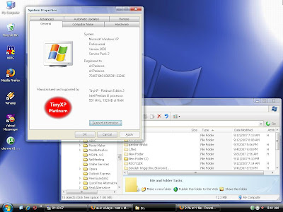 Nothing Secure on the Net: Download Windows Tiny XP Platinum