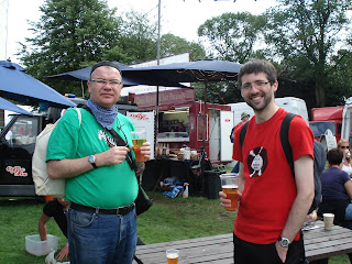 Neil and George - pints at Summer Sundae 2009