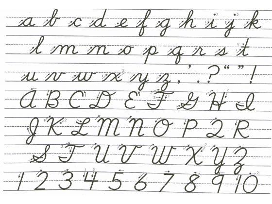 Number Names Worksheets alphabetical cursive : Number Names Worksheets : learning to write abc worksheets ~ Free ...