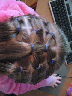 Rows of Three | Cute Hairstyles - Step 8