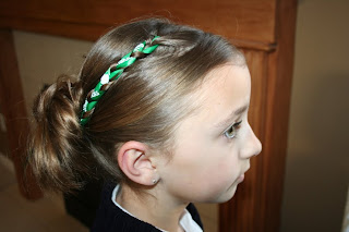 Accent Braid Into Messy Bun St Patrick S Day Hairstyles Cute