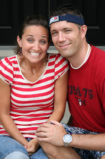 McKnight family picture - young couple posing for a picture
