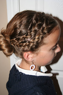 Remarkable Double Braid Into Twisty Bun Easter Hairstyles Cute Girls Hairstyles For Women Draintrainus