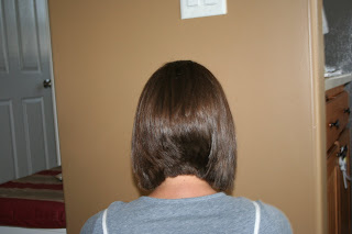 Back view of a woman's hair
