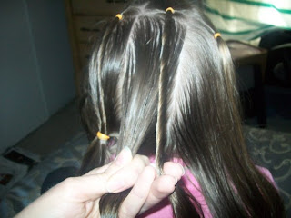 Spider Web w/ Messy Pull Through - Step 3