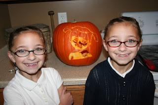 Halloween carved pumpkin 2