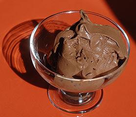 Glace au chocolat / glace à la vanille Glace-chocolat