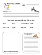 Free Worship Notes for Kids