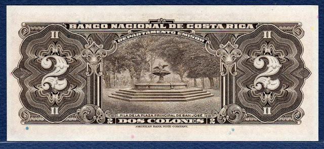 Costa Rica 2 Colones banknote