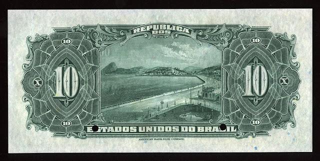 Brazilian banknotes money Botafogo Bay Rio Janeiro