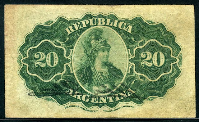 currency Argentina 20 Centavos banknote