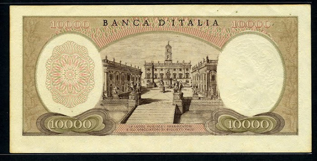 Italy 10000 Lire banknote