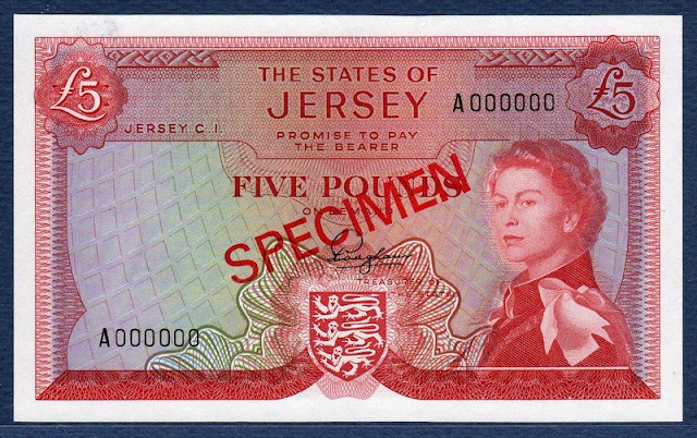 Jersey 5 Pounds British Commonwealth Banknotes Queen Elizabeth Currency Gallery