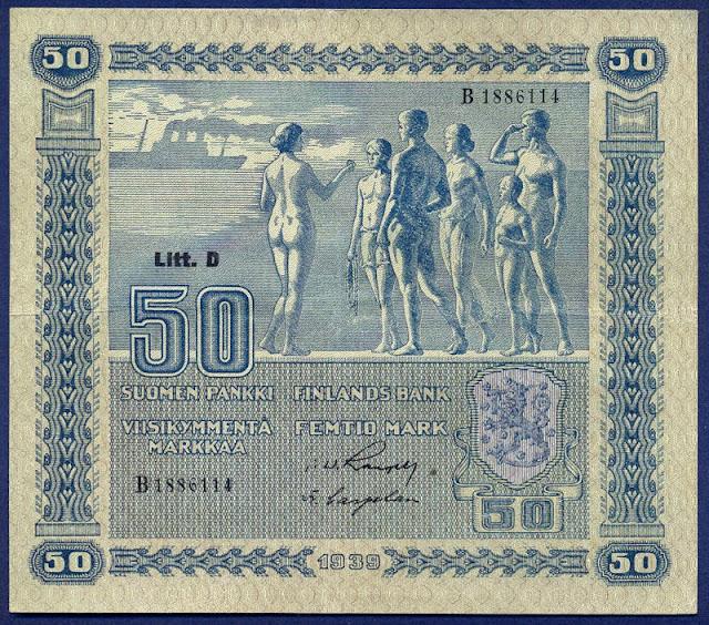 Paper Money Finland 50 markkaa