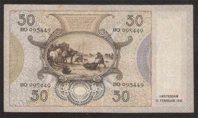 Paper Money of Netherlands banknotes
