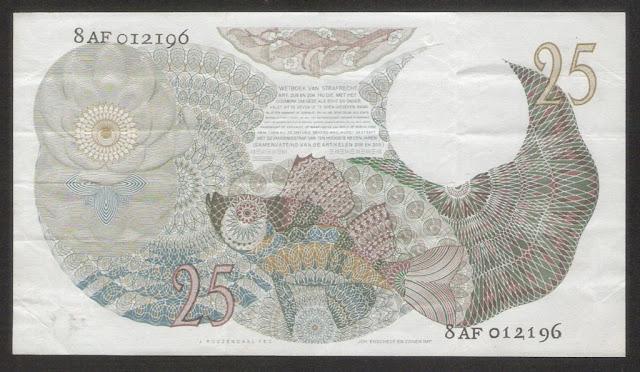 Paper Money Netherlands Bank 25 Gulden