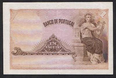 Portugal paper money Portuguese escudo banknote