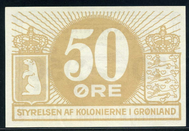 Greenland paper money 50 Ore banknote