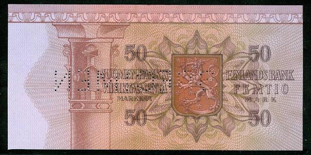 FINLAND 50 MARKKAA SPECIMEN