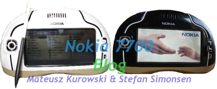 Nokia 7700 Blog