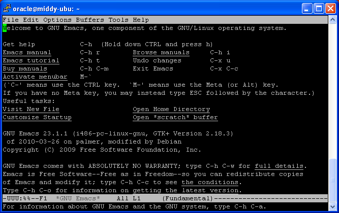 Sydney Oracle Lab: Is it a GUI ? is it a CLI ? No, it's Emacs