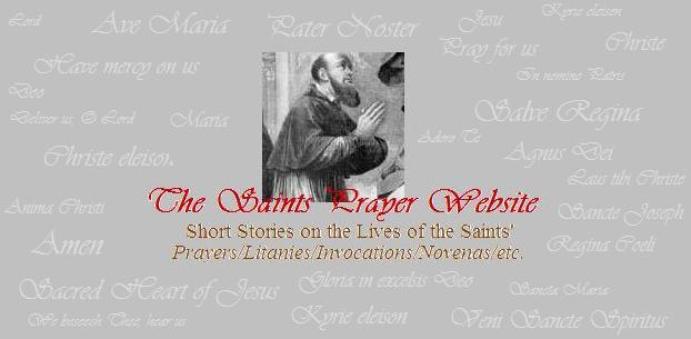 The Saints Prayer Website