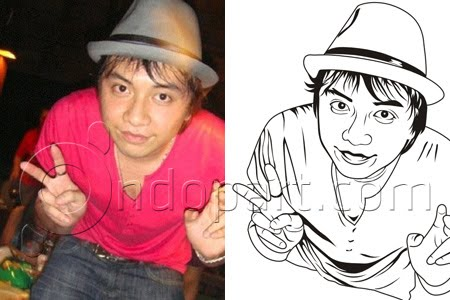 Self Image into line art vector