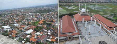 suasana Semarang dari atas menara