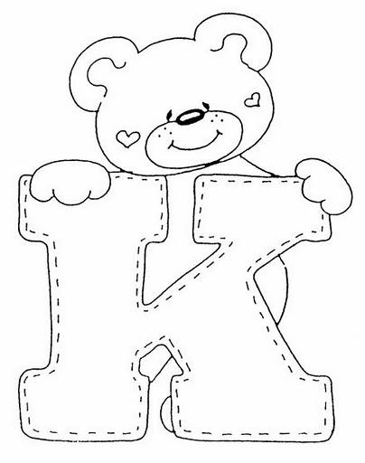 Медвежонок и буква K.