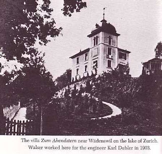 Villa near Wadensweil on the lake of Zurich. Robert Walser worked her for the engineer Karl Dubler in 1903