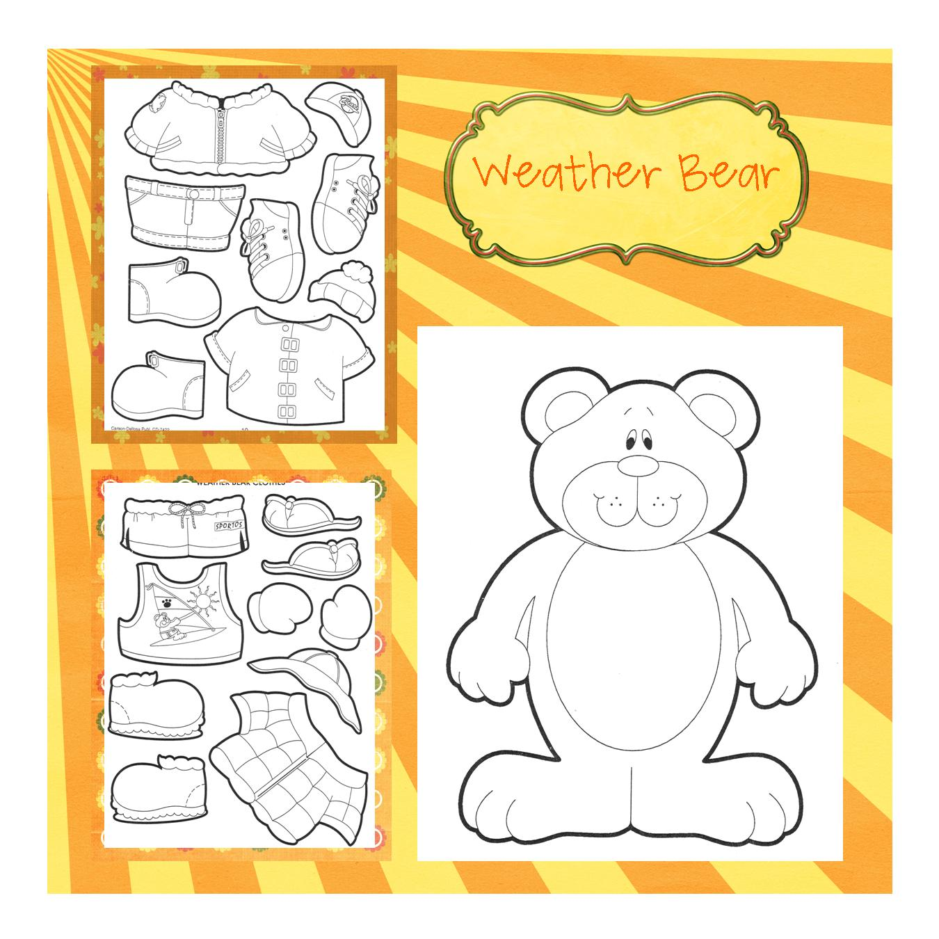 Weather Worksheet New 875 Printable Weather Dress Up Bear