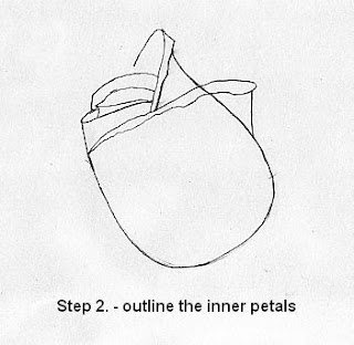Draw a rose in five steps-step 5