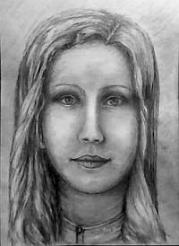 Portrait of a young girl-pencil sketch 1
