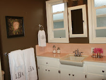And Pink Bathroom I Love Those Colors Together You Could Paint The Walls A Medium Brown If Don T Want It Too Dark Chocolate Towels