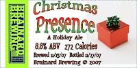 Christmas Presence Label