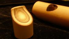 Detalhe do bocal em  bambu (similar a flauta doce)